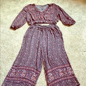 American eagle boho two piece outfit